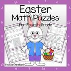 Easter Common Core Math Puzzles - 4th Grade