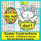 Easter Literacy Centers: Contractions Activities - 48 Pair