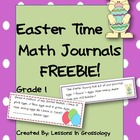 Easter Interactive Math Journals- FREEBIE! 1st Grade