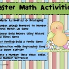 Easter Math Activities and Printables