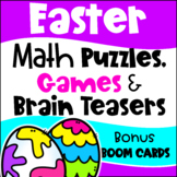 Easter Math Games Puzzles and Brain Teasers