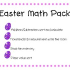 Easter Math Pack - addition/subtraction, measurement, base