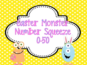 "Easter Math Station ""Monster Number Squeeze!"" 0-50"