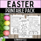 Easter Math and Literacy Printable Pack