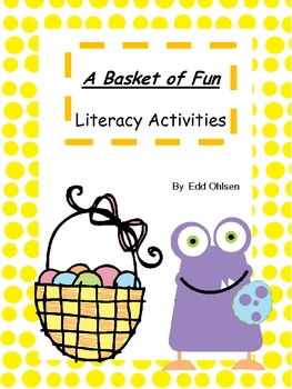 Easter Monsters Literacy Centers Game and Activities