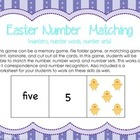 Easter Number Activity (numbers, number sets, number words)