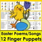 Easter:   Poems and Songs (11) & Finger Puppets (12) - Sha