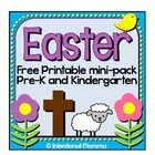 Easter Printable Mini-Pack for Preschool
