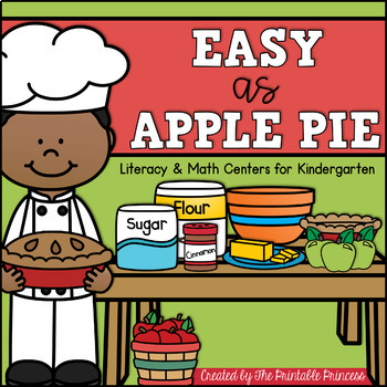 Easy As {Apple} Pie! {21 Apple Themed Centers for Kindergarten} CCSS