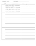 Easy Documentation for Anecdotal Notes for Writing IEP goals