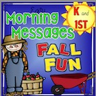Easy Morning Messages Bundle - FALL FUN - Kindergarten and