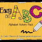 Easy as ABC! {Alphabet Activity Pack}