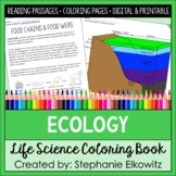 Ecology Coloring Book (Food Chains, Biomes, Nutrient Cycle