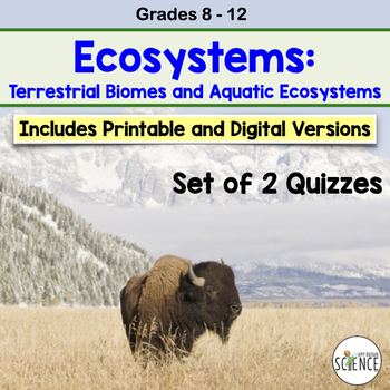 Ecology Quiz: Biomes of the World