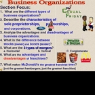 Economics - Business Organizations