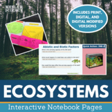 Ecosystems Interactive Notebook Pages - Food Chains, Food