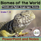 Ecosystems and the Biosphere: Biomes of the World PowerPoi