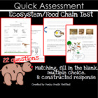 Ecosystems/Food Chain Test