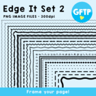 Edge It Set 2 -  Borders Great For Worksheet Edges!