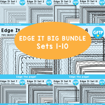 Edge It Ultimate Pack -  200 Borders Great For Worksheet Edges!