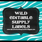Editable Animal Print Supply Labels