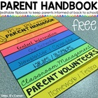 Editable Back to School Parent Handbook Flapbook