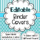 Binder Covers Editable