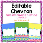 Editable Binder Covers - Chevron