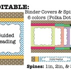 Editable Binder Covers and Spines {Polka Dots}