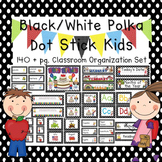 Black Dot School Kids Editable Classroom Organization & Decor Set