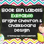 Editable Book Bin Labels (chalkboard/chevron)