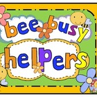 Editable Busy Bee Helpers For the Early Childhood Classroo
