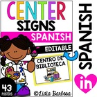 Editable Center Signs in Spanish