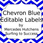 Editable Chevron Labels: Blue