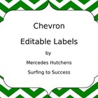 Editable Chevron Labels: Green