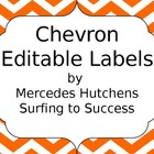 Editable Chevron Labels: Orange