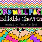 Word Wall Pack...Editable Chevron