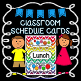Editable Classroom Schedule Cards {Chevron}