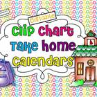 Editable Clip Chart Take Home Calendars for 2013-2014
