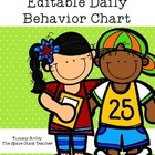Editable Daily Behavior Chart