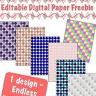 Editable Digital Paper FREEBIE-   Pick your own colors!