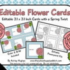 Editable Flower Cards {Freebie}