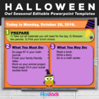 Editable HALLOWEEN Owl Themed Morning Work PowerPoint Templates