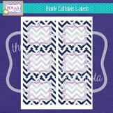 Editable Labels - Navy Chevron, Fuschia Frame