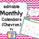 Editable Monthly Calendars (Chevron)