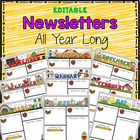 """Editable"" Monthly-themed Newsletters"