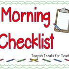 Editable Morning Checklist