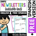 Editable Newsletter- Simple Black and White