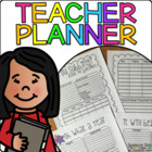 Editable Planner, Gradebook, and Attendance Record Book!