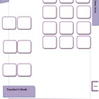 Editable Seating Chart w/18 Student Desks